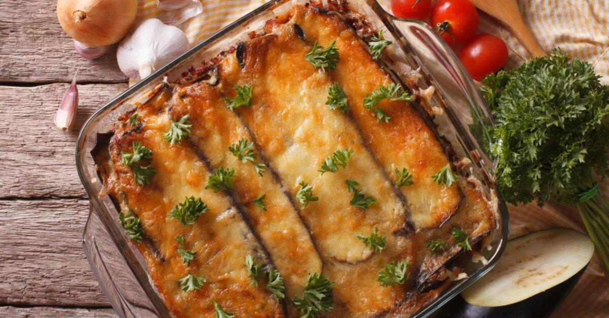 Cheesy Eggplant Sausage Casserole 12 Tomatoes