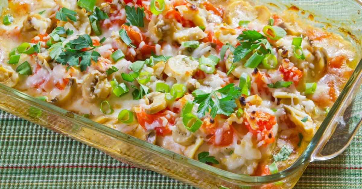 Cheesy Chicken Tomato And Mushroom Casserole 12 Tomatoes