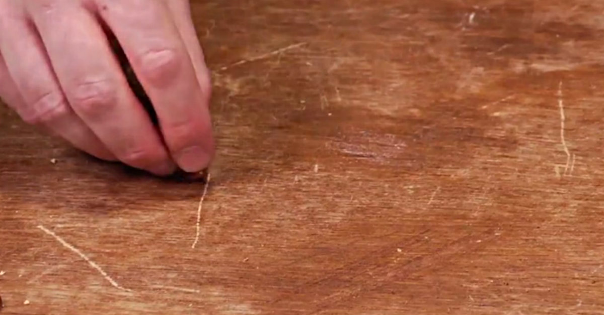 Remove The Scratches From Your Wood Furniture With This