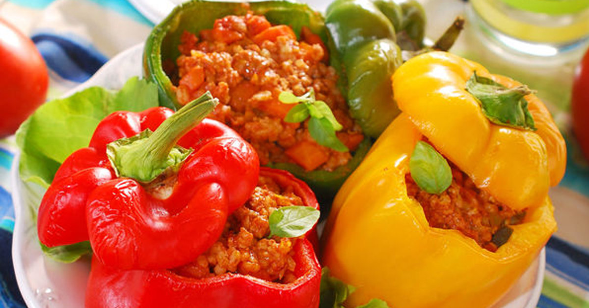 Creative Main Dish Recipe Beef Stuffed Bell Peppers 12 Tomatoes