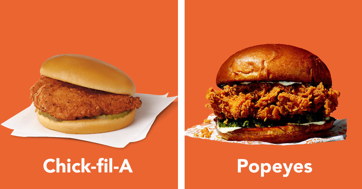 Popeyes And Chick-fil-A Are At War Over Whose Chicken ...