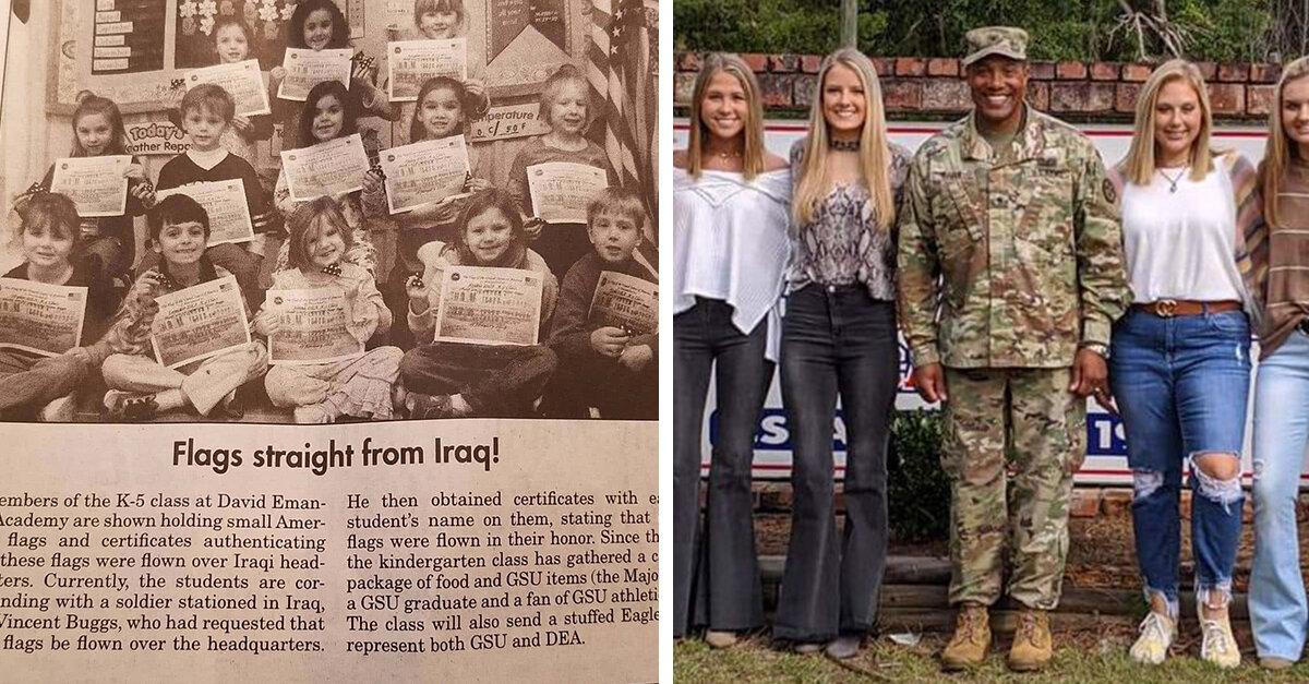 Soldier Meets Kindergarten Pen Pals Who Wrote To Him 13