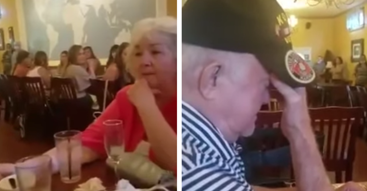 Dying Veteran Moved To Tears When The Entire Restaurant Sings 'Amazing Grace' To Him