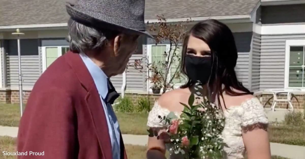 Grandfather with Dementia Gets His Wish to Walk His Granddaughter Down the Aisle