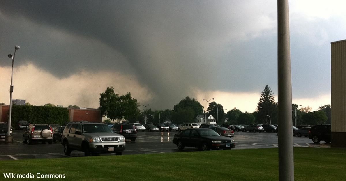 Man And Dog Barely Escape The Wrath Of A Tornado