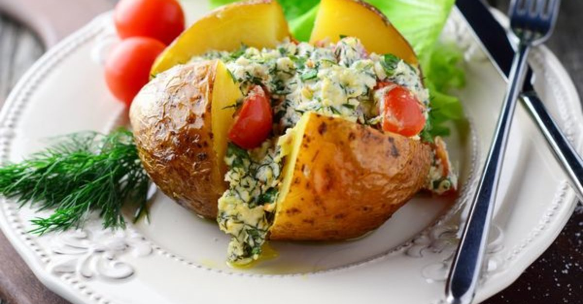 Magnificent Tasty Cottage Cheese And Herb Stuffed Baked Potatoes 12 Interior Design Ideas Gentotryabchikinfo