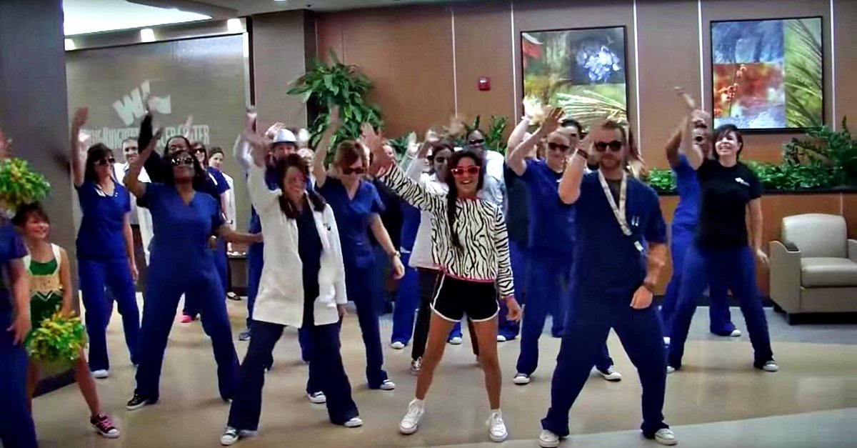 Watch This Hospital Staff Dance The Nae Nae To Send Off 12