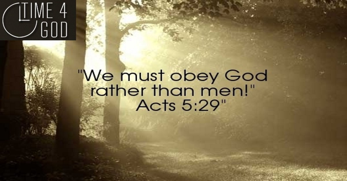 Choose to Obey God over following man made doctrines