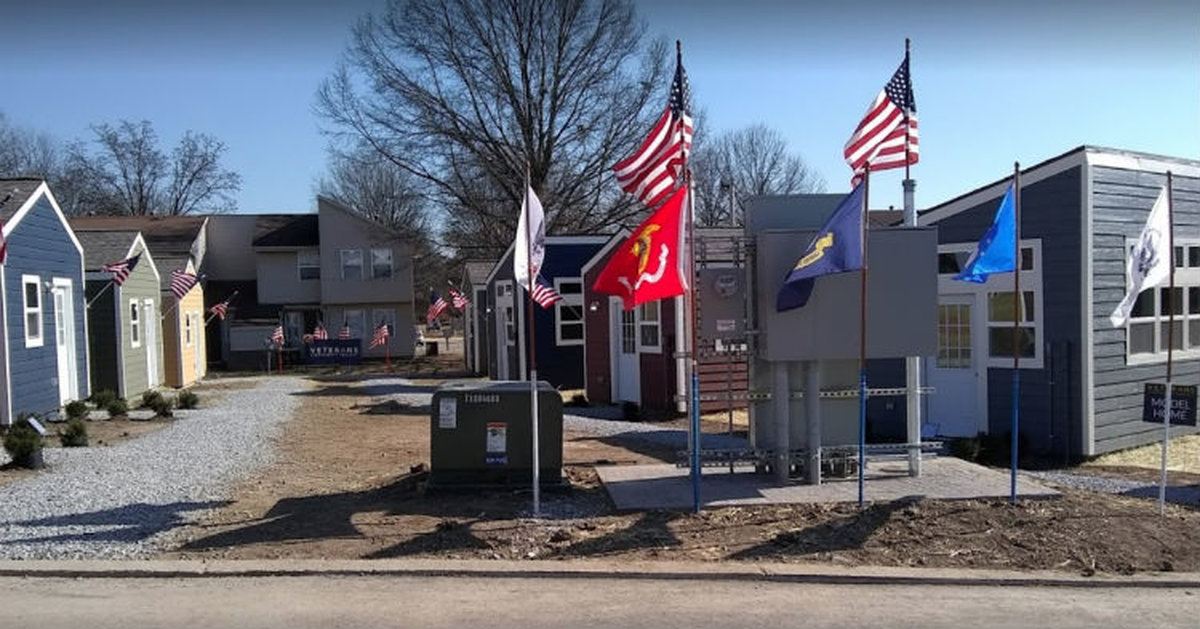 Kansas City Refuses To Let Veterans Stay Homeless, Builds Them Their Own Town For Free