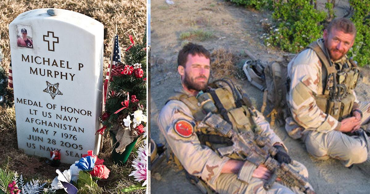 Memorial Of SEAL Lt. Michael Murphy, Portrayed In 'Lone ...