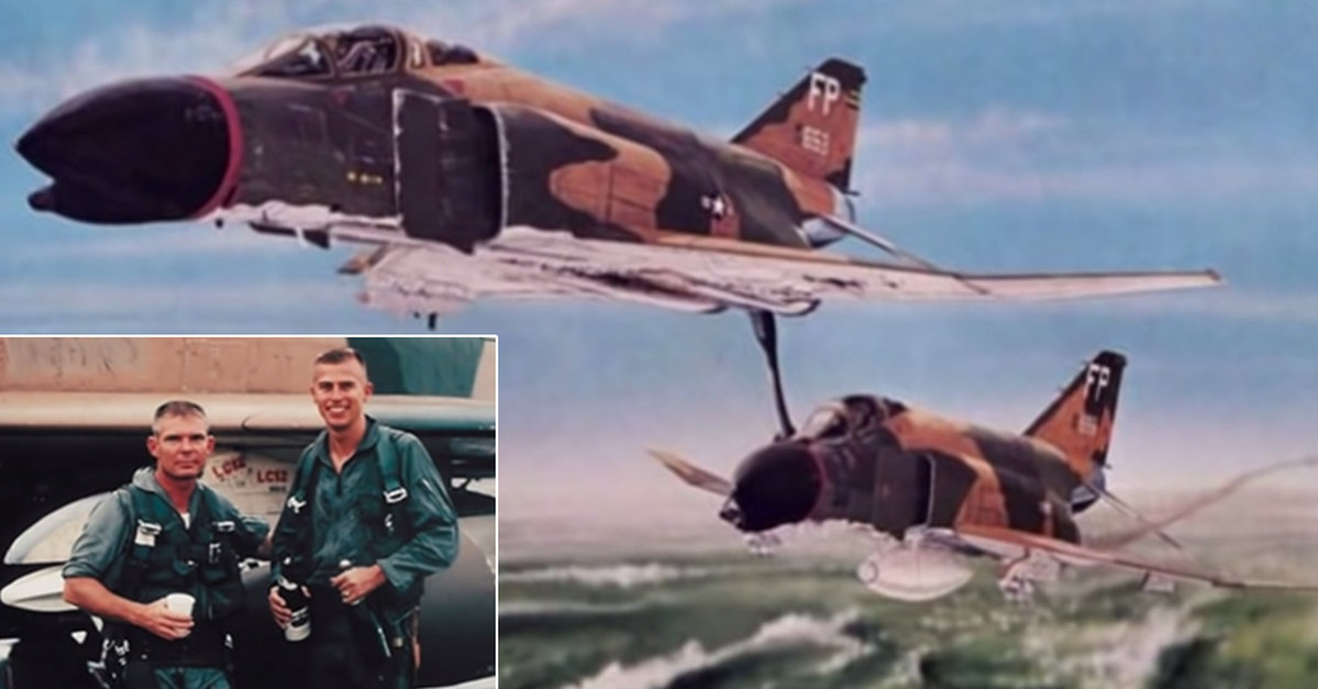 when his wingman s plane ran out of fuel this pilot offered a push through enemy airspace the veterans site news plane ran out of fuel