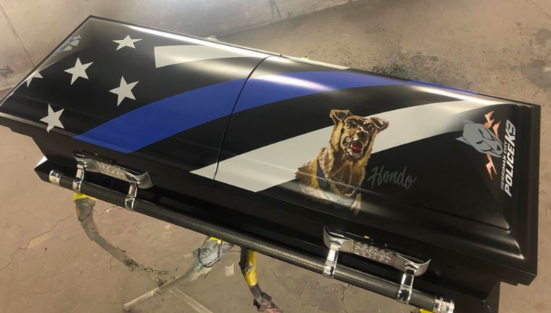 Police Dog Killed In The Line Of Duty To Be Buried In A Custom Painted Casket