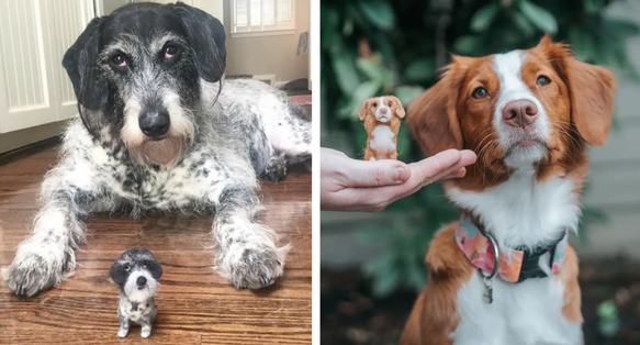 Artist Creates Felt Versions Of People's Pets And It's Become So Popular That She Sells Out In Minutes